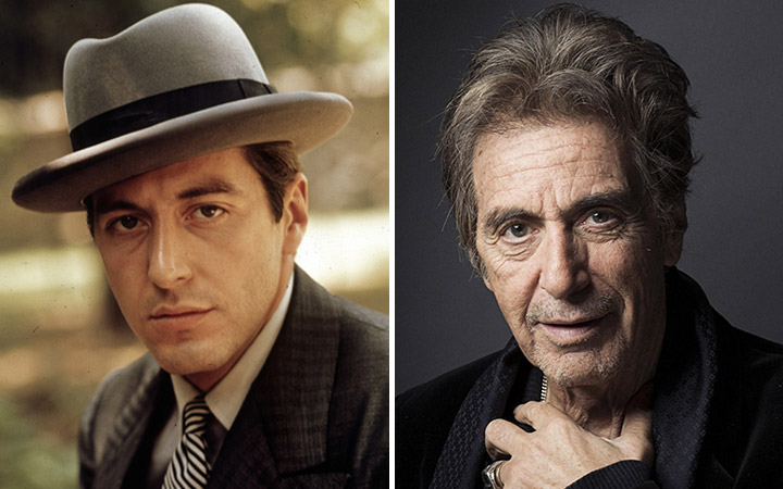 Al Pacino then and now