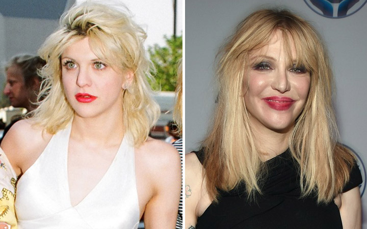 Courtney Love then and now