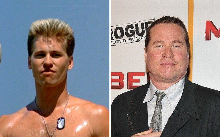 Val Kilmer then and now