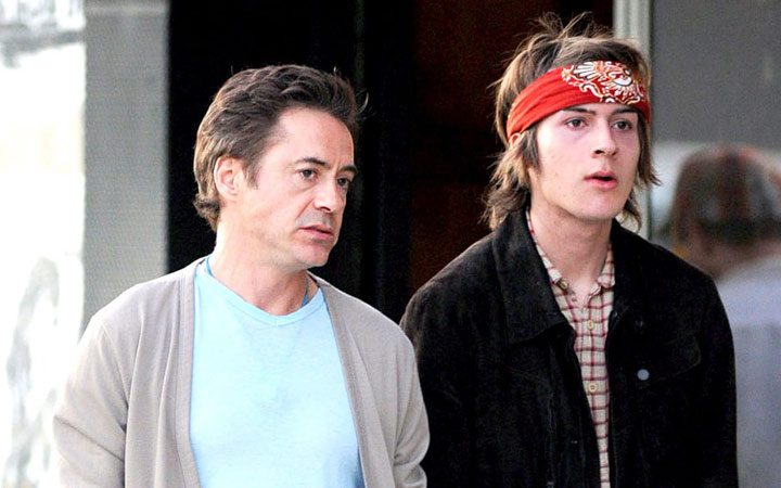 Indio Downey and Robert Downey Jr